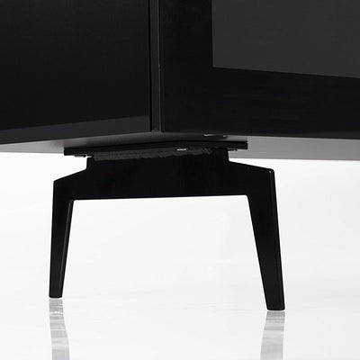 "Sonorous Studio ST360 Modern TV Stand w/ Spike Legs for TVs up to 75"" - Black / White Glass Cover"