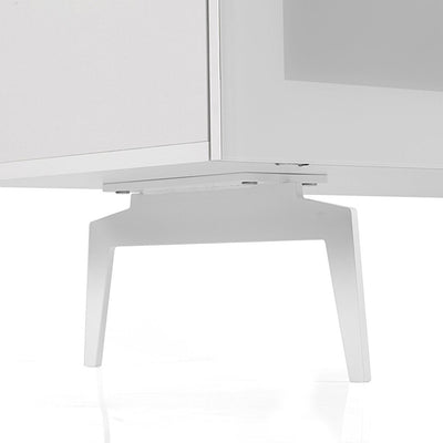 "Sonorous Studio ST360 Modern TV Stand w/ Spike Legs for TVs up to 75"" - White / Black Glass Cover"