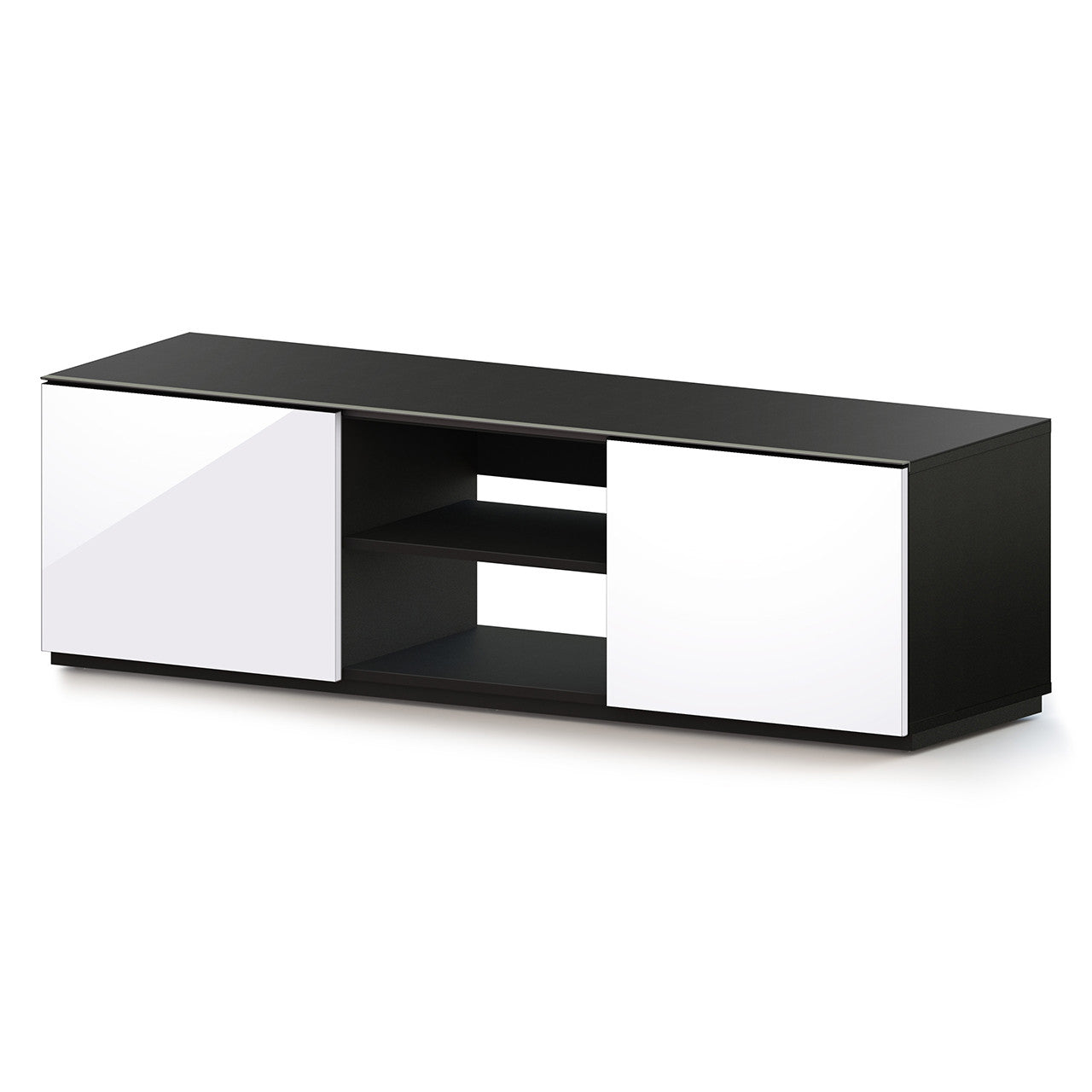 "Sonorous TRD-150 Modern Wood TV Stand For Sizes up to 65"" - White"