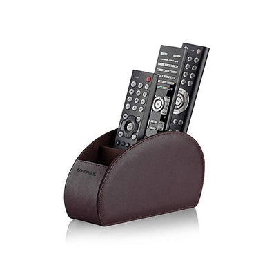 Sonorous Luxury Leather Remote Control Holder - Brown
