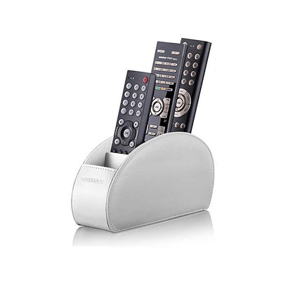 Sonorous Luxury Leather Remote Control Holder - White