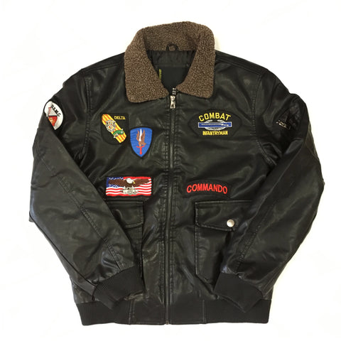 G-1 Bomber Faux Leather Jacket