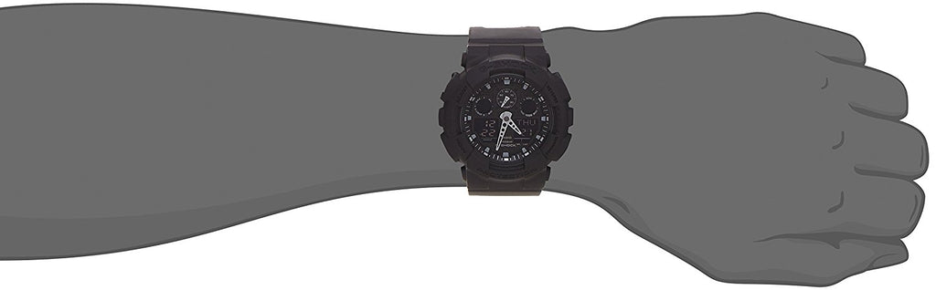 G-Shock Analog Digital Black Resin Strap Watch - 'Stat-Ment