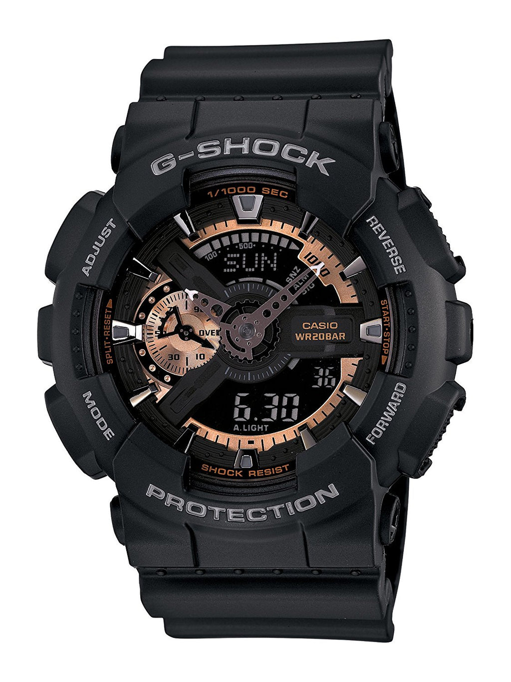 G-Shock Men's Analog Digital Black Resin Strap Watch - 'Stat-Ment