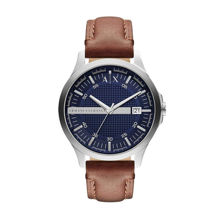 Armani Exchange Men's Brown Leather Watch - 'Stat-Ment