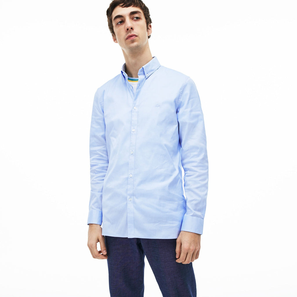 Slim Fit Stretch Cotton Pinpoint Shirt