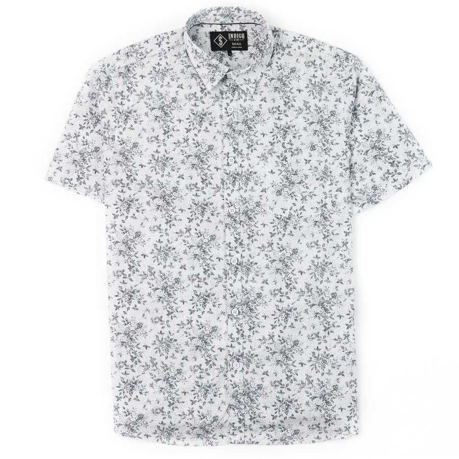 Indigo Star Short Sleeve Woven Shirt