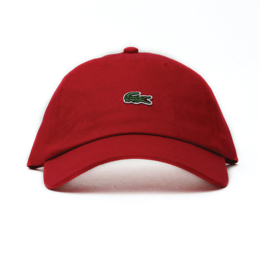 Lacoste Embroidered Crocodile Cotton Cap