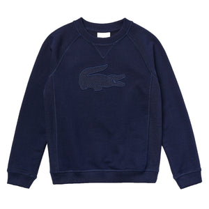 Lacoste Embroidered Croc Cotton Graphic Sweatshirt