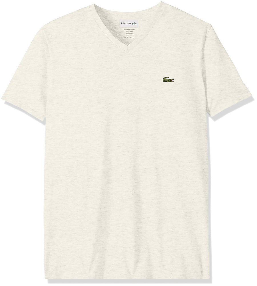 Lacoste - Pima Cotton V-Neck - 'Stat-Ment