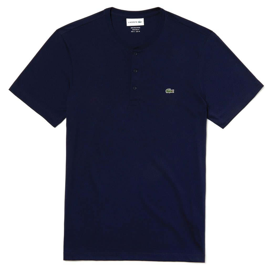 Henely Neck Pima Cotton Jersey T-Shirt