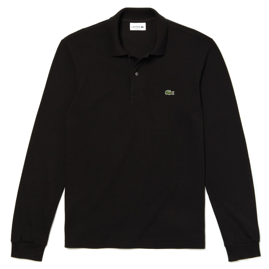 Lacoste Cotton-Pique Polo Shirt Black