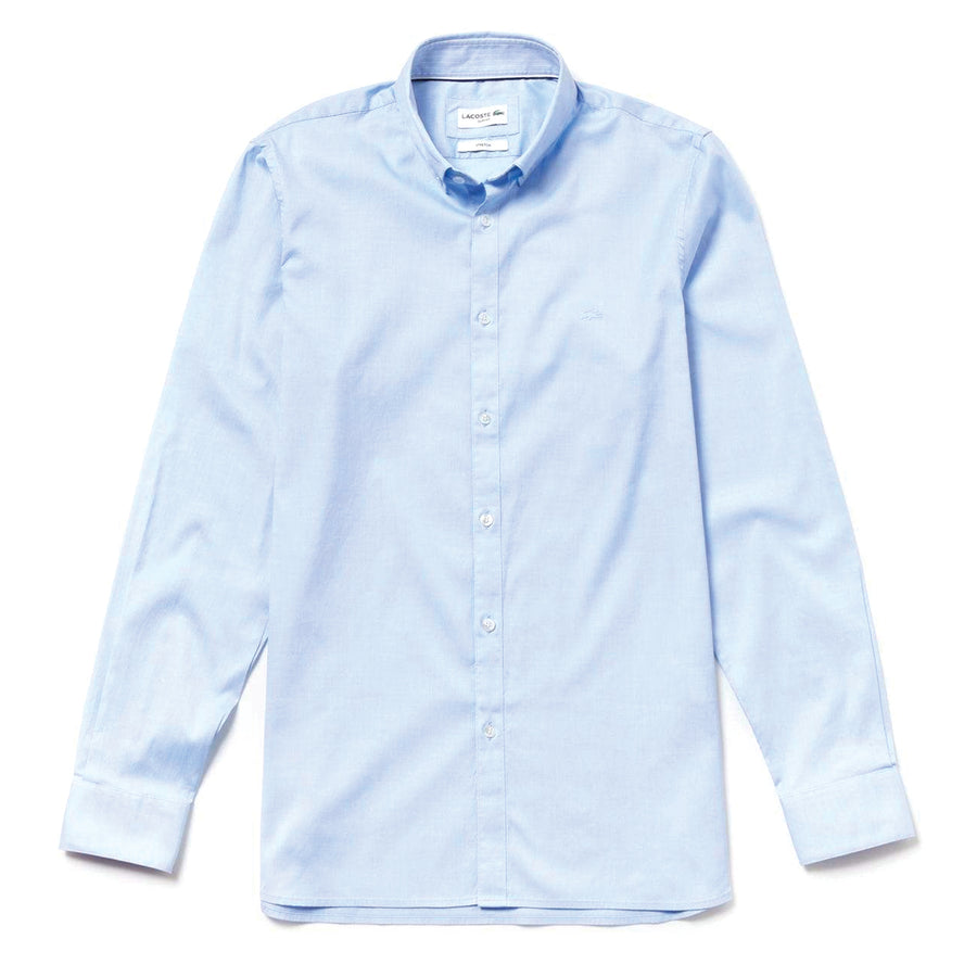 Lacoste Slim Fit Stretch Cotton Pinpoint Shirt
