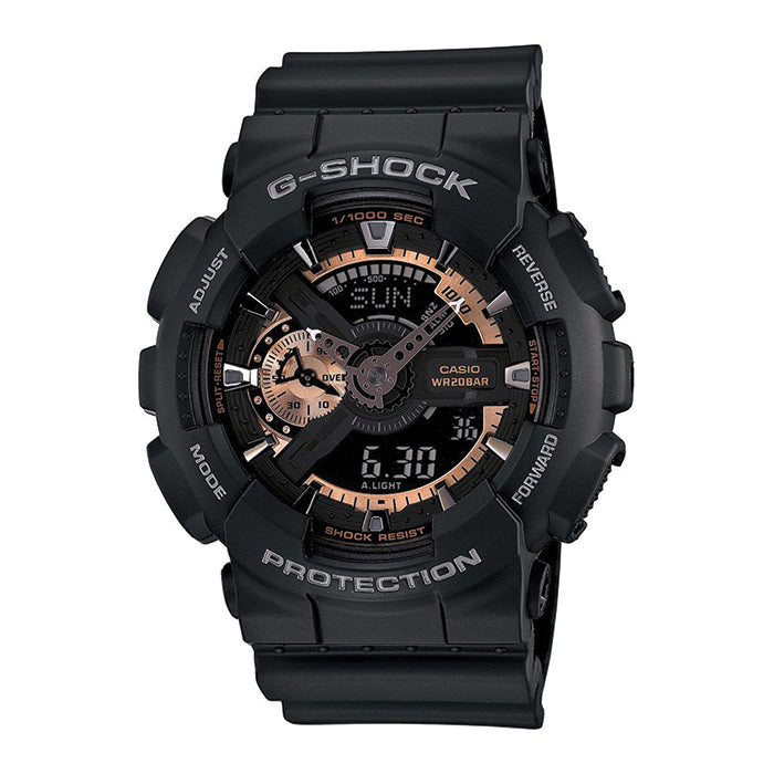 G-Shock Analog Digital Black Resin Strap Watch