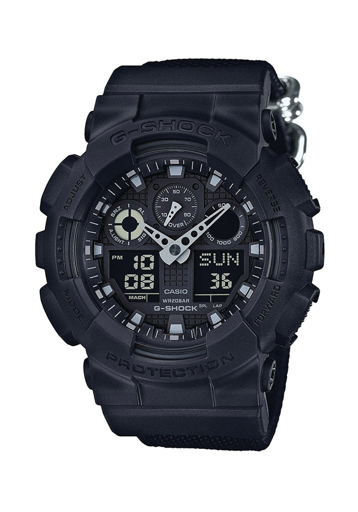 Analog Digital Black Resin Strap Watch