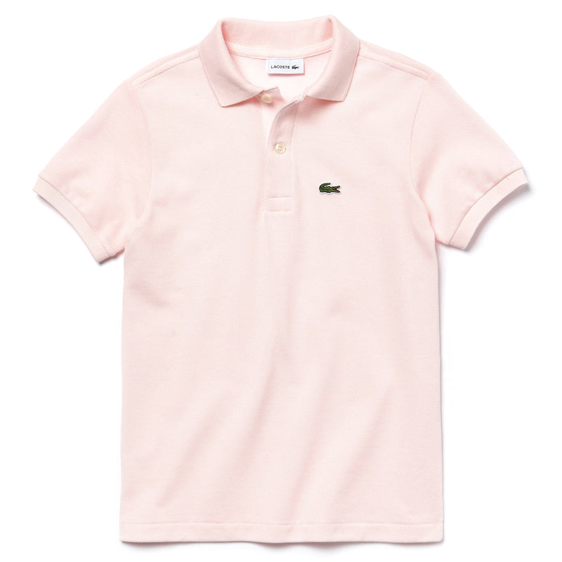 LACOSTE - BOY's Short Sleeve CLASSIC PIQUE POLO - 'Stat-Ment