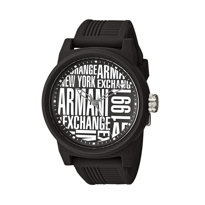 Armani Exchange Men's Quartz Rubber Watch - 'Stat-Ment
