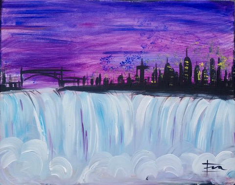 "East Side Mario's Painting Night, Barrie - March 22nd, 2018 (7-9pm) - ""The Falls"" - 502 Bayfield Street Barrie"