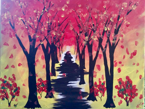 "52nd Street Tap & Grill Painting Night - Sept 21st ,2017 (7-9pm) - ""Autumn Trail"" 30A Kennedy Rd S, Brampton"