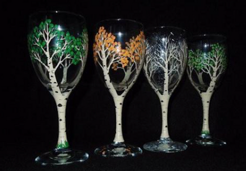 "Milestones Oakville Paint Night - May 9th, 2018 (7-9pm)  ""Paint On Wine Glasses"" - Great Mother's Day Idea"