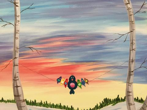 "Milestones Oakville Paint Night! - June 27th, 2018 (7-9pm)  ""Hanging Out"""