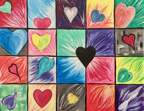 "Lionheart British Pub - Painting Night - Feb 26th, 2018 (7-9pm) ""Happy Hearts"" - 3221 Derry Rd W, Mississauga"