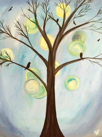 "Ye Old Squire Upper James, Painting Night - Apr 24th, 2018 (7-9pm) - ""Radiant Tree"" 1508 Upper James St, Hamilton"