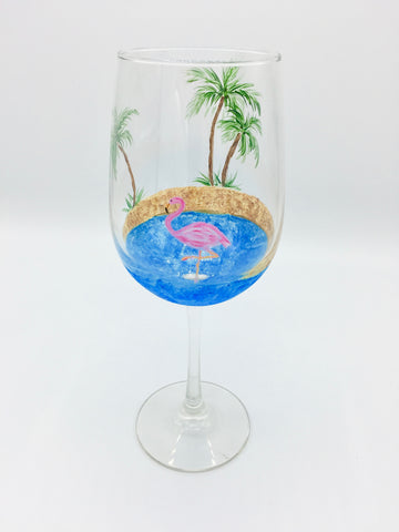 "Sky Zone Trampoline Park - Paint & Jump Night! Jan 24th, 2018 (7-9pm) ""Flamingo Wine Glasses"" 3636 Hawkestone Rd, Mississauga"
