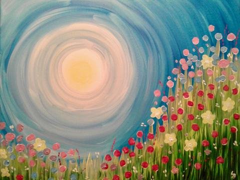 "Shoeless Joe's Aurora Painting Night, Apr 4th, 2018 (7-9pm) ""In the Meadow"" 2 Orchard Heights Blvd, Aurora"