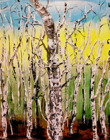 "Ipperwash Beach Club Paint Night - May 7th, 2018 (7-9pm) ""Ipperwash Birch"""