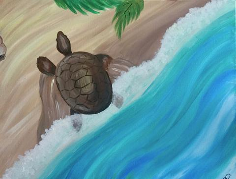 "Shoeless Joe's Georgetown, Painting Night -  Jan 15th, 2018 (7-9pm) - ""Journey's End (Turtle)"", 367 Guelph Street, Georgetown"