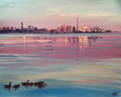 "Barque Smokehouse Painting Night - May 7th, 2018 (7:30-9:30 pm approx. times) ""Lakeshore Sparkle"" - 4155 Fairview St, Burlington"