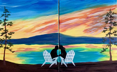 "Don Cherry's Painting Night - Aug 16th, 2018 (7-9pm)  - ""Love on the Lake"" - 6 Bowes Street, Parry Sound"