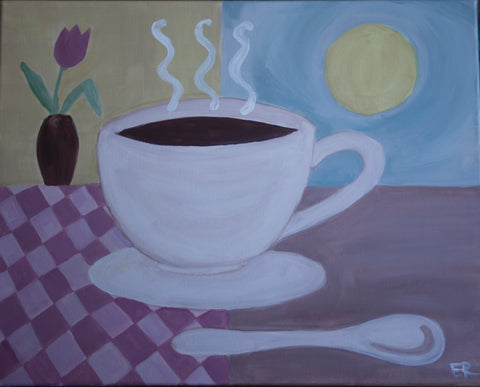 "Symposium Cafe Guelph - Painting  Night ""Morning Coffee"" - Jan 16th, 2018 (7-9pm)  304 Stone Rd W, Guelph"