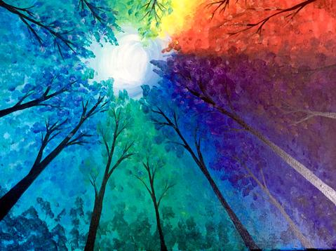 "Chompin At The Bit Bar & Grille Painting Night - Dec 7th, 2017 (7-9pm) ""Prism Grove"" - 148 Main St N, Rockwood, ON N0B 2K0"