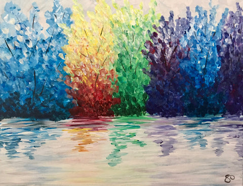 "5 West Brewpub Paint Night - Mar 26th, 2018 - ""Reflections"" 3600 Dundas St, Burlington"