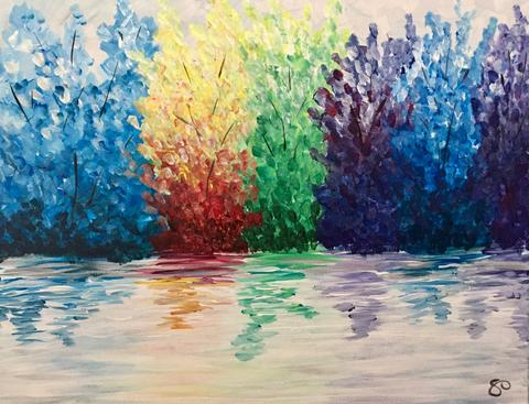 "Abbey Arms Pub Painting Night, Mar 6th, 2018 (7-9 pm),  ""Reflections"", 481 North Service Rd W, Oakville,"