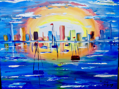 "St. Thomas Roadhouse Bar and Grill Paint Night - Apr 3rd, 2018 ""Sail With Me"" - 837 Talbot St, St. Thomas"