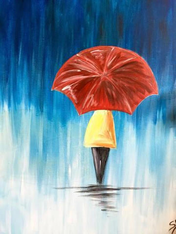 "5 West Brewpub Paint Night - Apr 24th, 2018 (7:30-9:30pm) - ""Singing In The Rain"" 3600 Dundas St, Burlington"