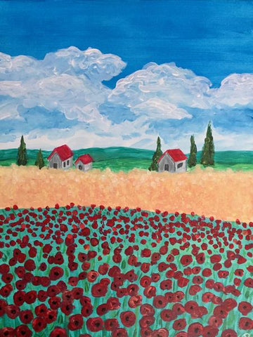 "Whale & Ale, Kitchener - Painting Night - Sun, Apr 1st, 2018 (4-6pm) ""Van Gogh's Field"" 1120 Victoria St N, Kitchener"