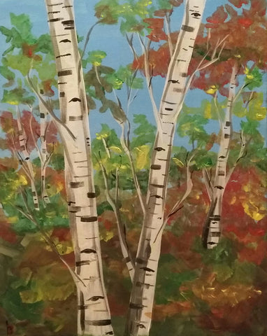 "Symposium Cafe, Painting Night - Oct 23rd, 2017 (7-9pm)  ""White Birch"" - 3055 Dundas St W, Mississauga"