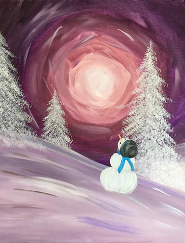 "Abbey Arms Pub Painting Night, Jan 16th, 2018 (7-9 pm),  ""Winter Wonder"", 481 North Service Rd W, Oakville,"