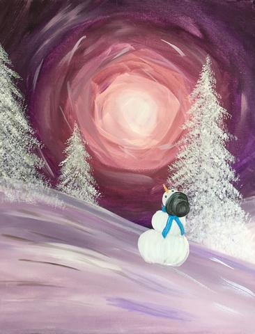 "Tracks Brew Pub - Painting Night - Nov 21st, 2017 (7-9pm) ""Winter Wonderland"" , 60 Queen St E, Brampton"