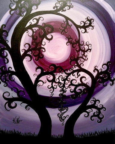 "5 West Brewpub Paint Night - July 31st, 2018 - ""Amethyst Moon"" Dinner Included Option"