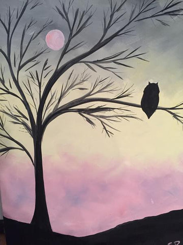 "Time Out Sports & Taps Painting Night, Mar 23rd, 2018 (7-9pm) ""Hoot"" 68 Main St N, Georgetown"