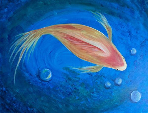 "Whale & Ale, Kitchener - Painting Night - Sun, Apr 29th, 2018 (4-6pm) ""Go Fish"" 1120 Victoria St N, Kitchener"