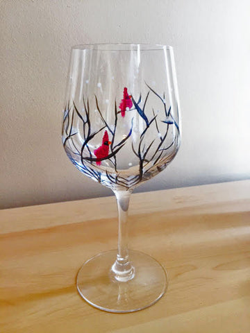"Tracks Brew Pub Painting Night - Dec 19th, 2017 (7-9pm) ""Cardinal Wine Glasses"" , 60 Queen St E, Brampton"
