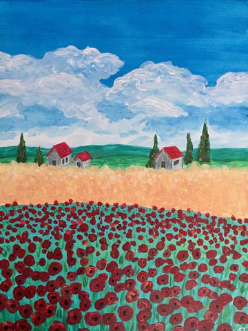 "Tracks Brew Pub Painting Night - Apr 10th, 2018 (7-9pm) ""Van Gogh's Field"" , 60 Queen St E, Brampton"