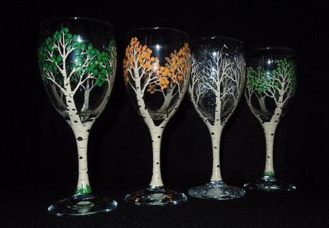 "Fionn MacCool's Orangeville - Painting Night, Apr 24th, 2018 - ""Paint Birch Tree Seasons On Wineglasses"""