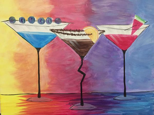 "Kelsey's Georgetown Painting Night - Jan 22nd, 2018 (7-9pm) ""Cocktail Hour"" 256 Guelph St, Georgetown"